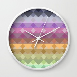 retro-geometry-pattern-wall-clocks